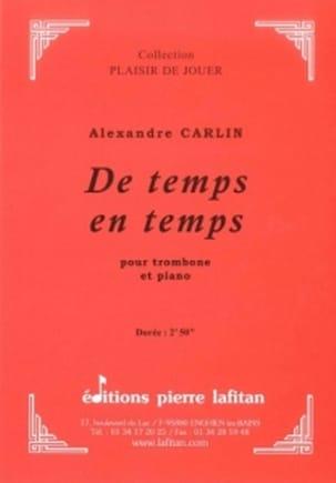 De temps en temps Alexandre Carlin Partition Trombone - laflutedepan
