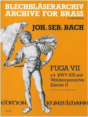 Fuga VII à 4 BWV 876 BACH Partition Ensemble de cuivres - laflutedepan