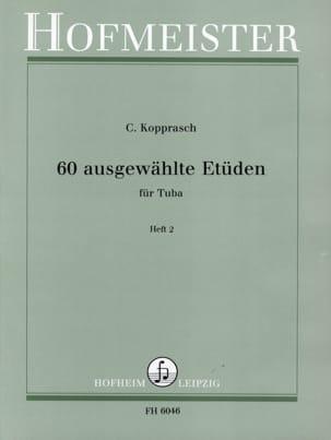60 Ausgewählte Etüden Heft 2 Georg Kopprasch Partition laflutedepan