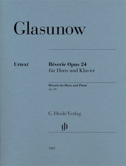 Rêverie Opus 24 for Horn and Piano GLAZOUNOV Partition laflutedepan