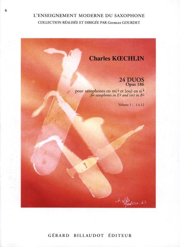 24 Duos Opus 186 Volume 1 - Charles Koechlin - laflutedepan.com