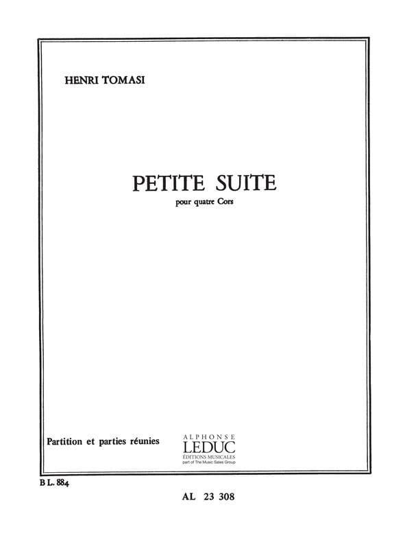 Petite Suite - TOMASI - Partition - Cor - laflutedepan.com