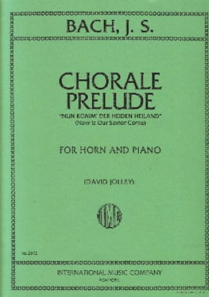 Chorale Prelude For Horn - BACH - Partition - Cor - laflutedepan.com