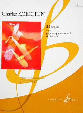 24 Duos Opus 186 Volume 2 - Charles Koechlin - laflutedepan.com