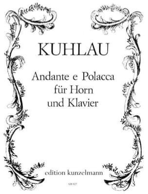 Andante E Polacca Friedrich Kuhlau Partition Cor - laflutedepan
