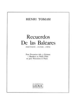 Recuerdos de Las Baleares TOMASI Partition laflutedepan