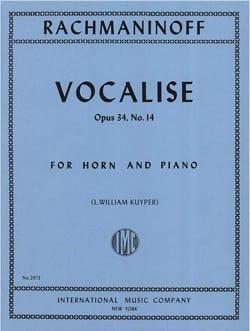 Vocalise Opus 34 - N°14 RACHMANINOV Partition Cor - laflutedepan