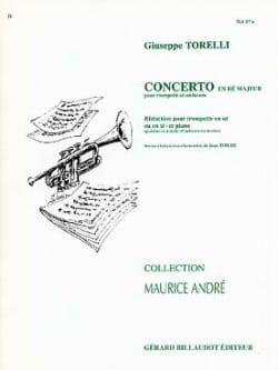 Concerto En Ré Majeur TORELLI Partition Trompette - laflutedepan
