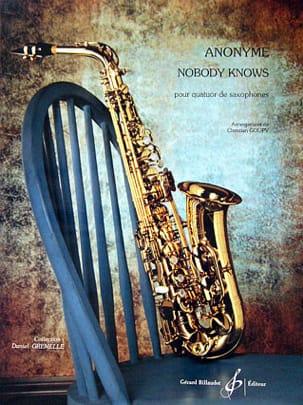 Nobody Knows - Quatuor de Saxophones Partition laflutedepan