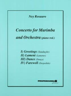 Concerto For Marimba / Piano Ney Rosauro Partition laflutedepan