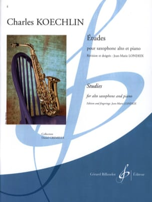 15 Etudes Charles Koechlin Partition Saxophone - laflutedepan