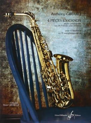 4 Pièces en Canon Anthony Girard Partition Saxophone - laflutedepan