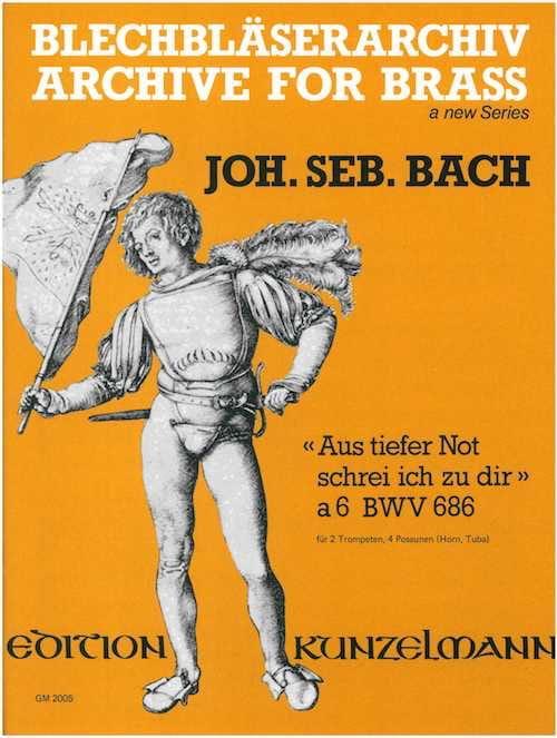 Aus Tiefer Not Schrei Ich Zu Dir à 6 BWV 686 - BACH - laflutedepan.com