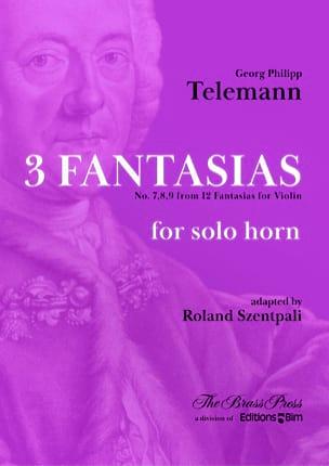 3 Fantaisies - Georg Ph Telemann - Partition - Cor - laflutedepan.com