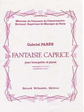 Fantaisie Caprice - Gabriel Parès - Partition - laflutedepan.com
