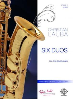 Six duos Christian Lauba Partition Saxophone - laflutedepan