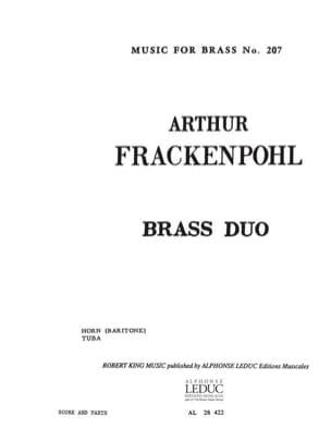 Brass duo Arthur Frackenpohl Partition laflutedepan