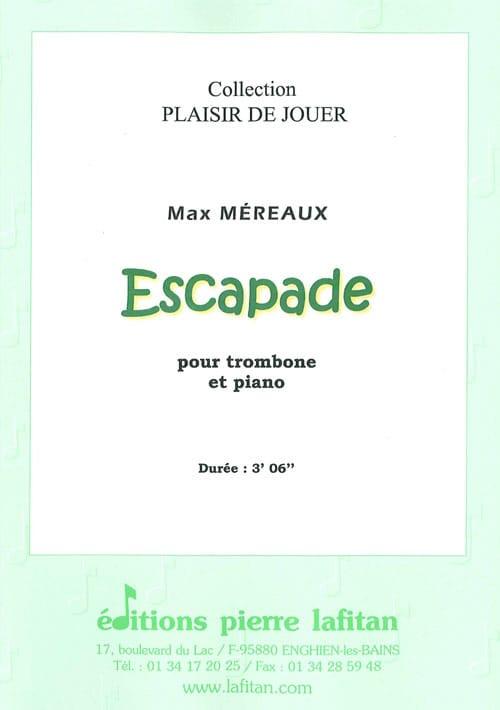 Escapade - Max Méreaux - Partition - Trombone - laflutedepan.com