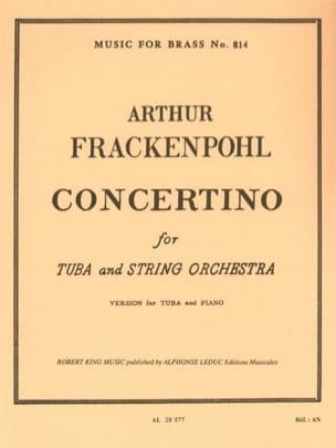 Concertino Arthur Frackenpohl Partition Tuba - laflutedepan