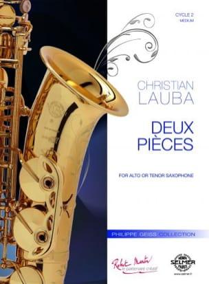 2 pièces Christian Lauba Partition Saxophone - laflutedepan