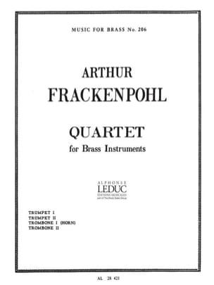 Quartet Arthur Frackenpohl Partition laflutedepan