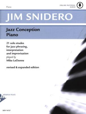 Jazz Conception For Piano 21 Solo Etudes Jim Snidero laflutedepan