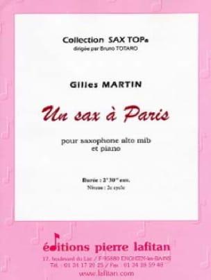 Un sax à Paris - Gilles Martin - Partition - laflutedepan.com