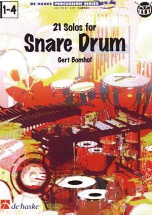 21 Solos for Snare Drum Gert Bomhof Partition laflutedepan