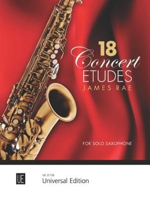 18 Concert Etudes James Rae Partition Saxophone - laflutedepan