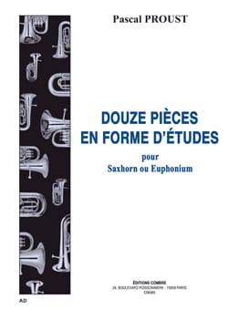 12 pièces en forme d'études Pascal Proust Partition laflutedepan
