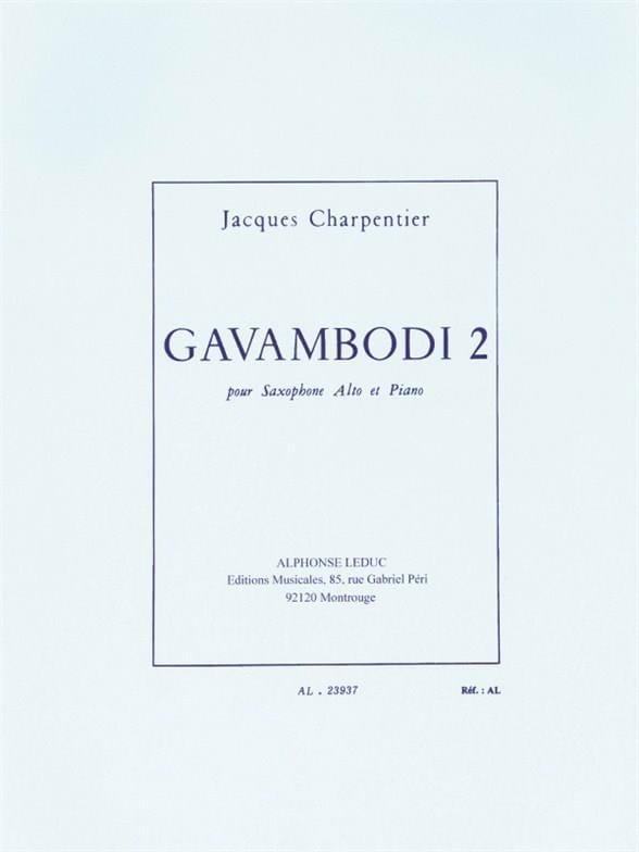 Gavambodi 2 - J. Charpentier - Partition - laflutedepan.com