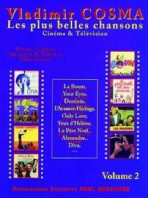 Les Plus Belles Chansons Volume 2 - Vladimir Cosma - laflutedepan.com