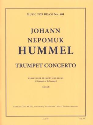 Trumpet Concerto In E Flat HUMMEL Partition Trompette - laflutedepan