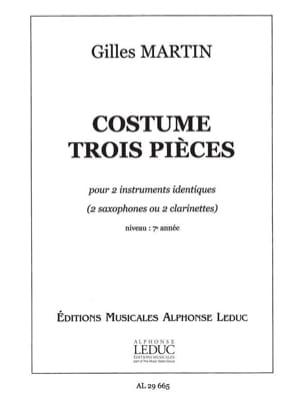 Costume Trois Pièces Gilles Martin Partition Saxophone - laflutedepan