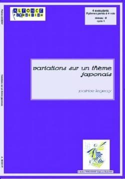 Variations sur un thème Japonais Patrice Legeay Partition laflutedepan