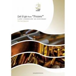 Let it go from Frozen - Sax Quartet DISNEY Partition laflutedepan