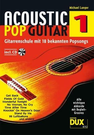 Acoustic pop guitar volume 1 Michael Langer Partition laflutedepan