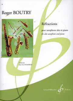 Réfractions Roger Boutry Partition Saxophone - laflutedepan
