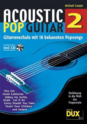 Acoustic pop guitar volume 2 Michael Langer Partition laflutedepan