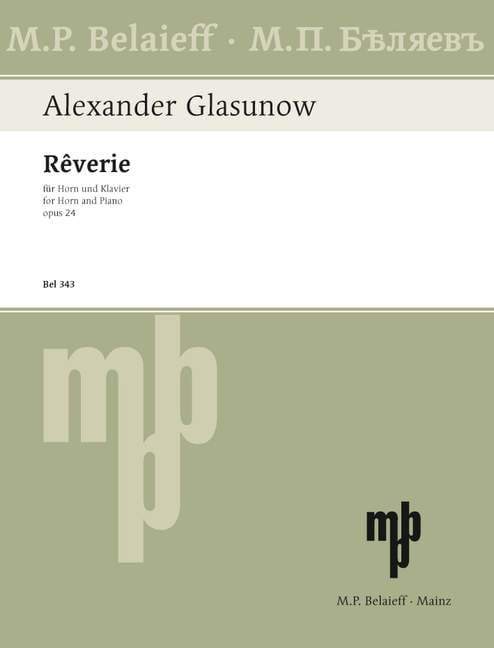Rêverie Opus 24 - GLAZOUNOV - Partition - Cor - laflutedepan.com