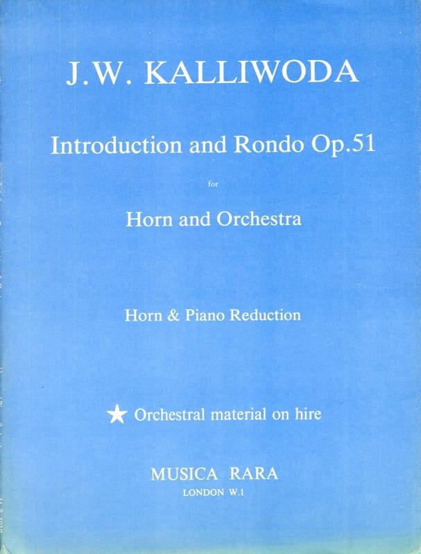 Introduction And Rondo Opus 51 - J.W. Kalliwoda - laflutedepan.com