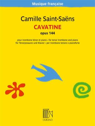 Cavatine, Opus 144 SAINT-SAËNS Partition Trombone - laflutedepan