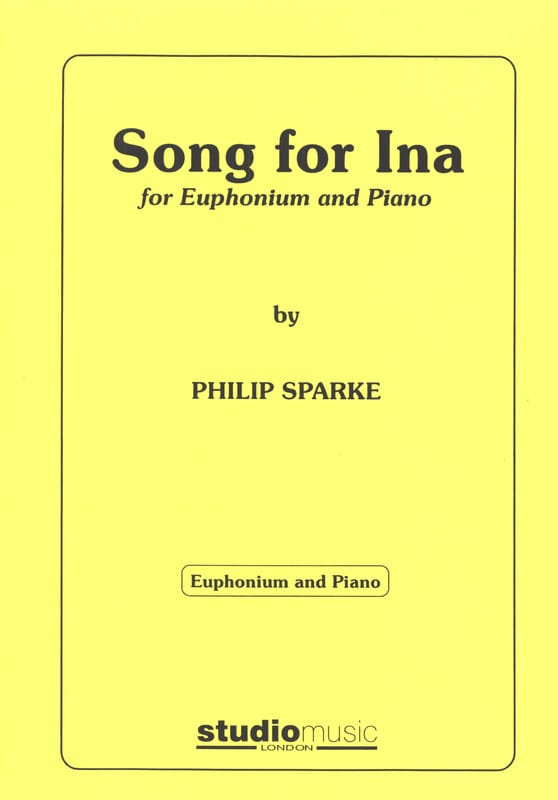 Song For Ina - Philip Sparke - Partition - Tuba - laflutedepan.com