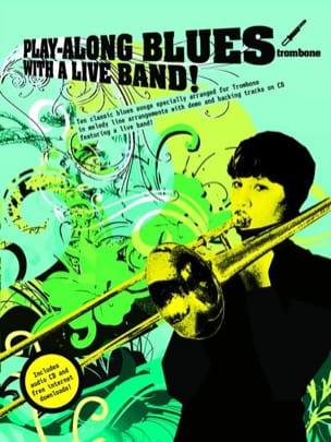 Play-Along Blues With A Live Band Partition Trombone - laflutedepan