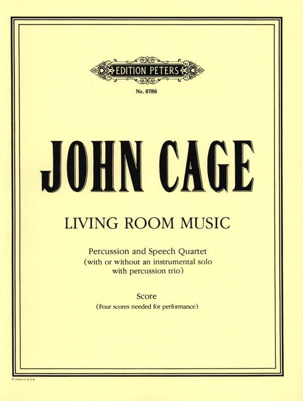 Living Room Music - Score - CAGE - Partition - laflutedepan.com