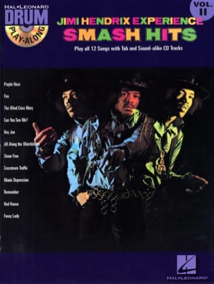 Drum play-along volume 11 - Jimi Hendrix Experience Smash Hits laflutedepan