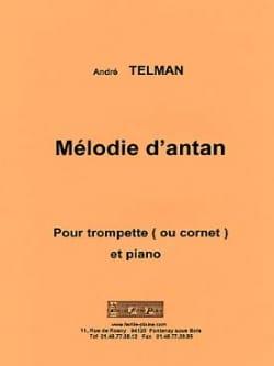 Mélodie d'antan André Telman Partition Trompette - laflutedepan