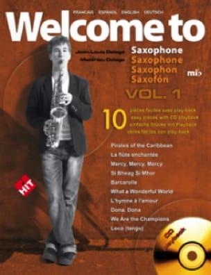 Welcome To Saxophone Mi Bémol Volume 1 - laflutedepan.com