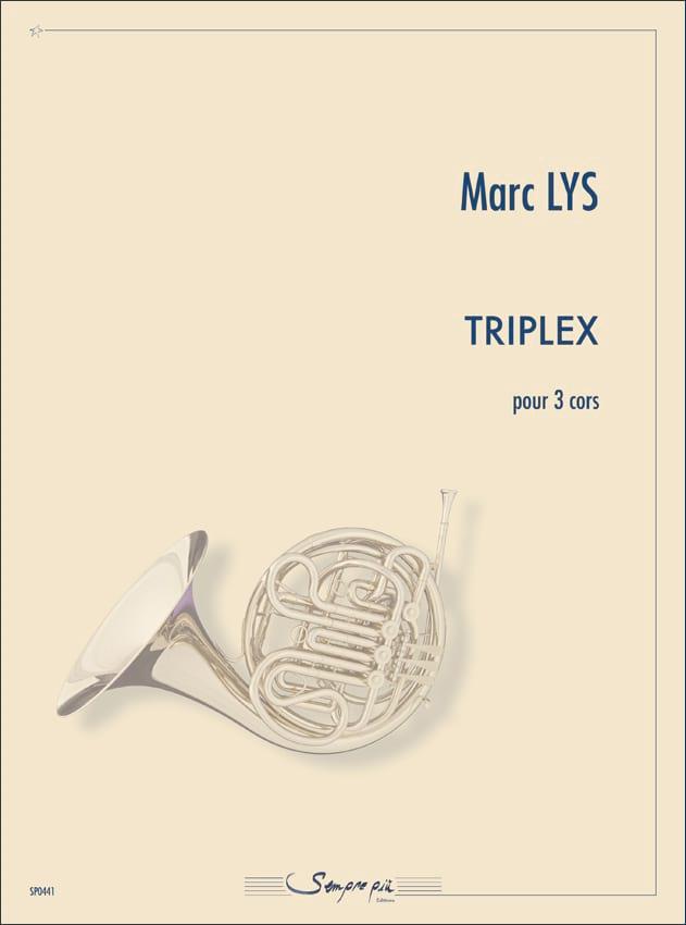 Triplex - Marc Lys - Partition - Cor - laflutedepan.com