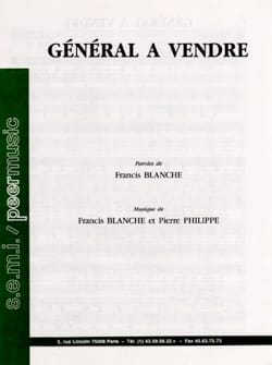 Francis Blanche - General for sale - Partition - di-arezzo.co.uk